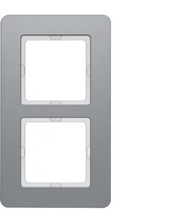 Q.7 Ramka 2-krotna, aluminium Berker 10126074