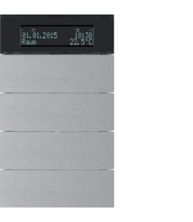 B.IQ Przycisk 4-kr z reg. temp. i wyśw. aluminium