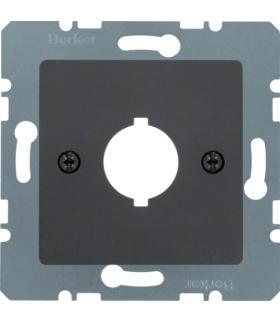 B.Kwadrat/K.1 Płytka czołowa z otworem Ø 18,8 mm do gniazda wyrównania potencjału pojedycznego, antracyt, mat Berker 14311606