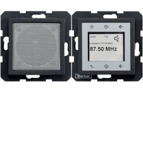 B.x/S.1 Radio Touch komplet, antracyt mat Berker 28801606