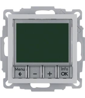 B.x Regulator temperatury ze sterowaniem czasowym ze stykiem zwiernym i elementem centralnym, alu Berker 20441404