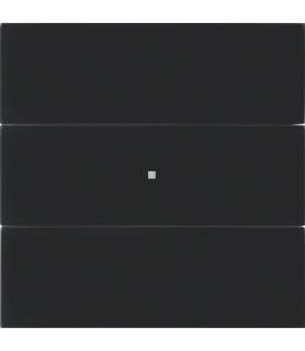B.IQ Przycisk 3-krotny standard, szkło czarne
