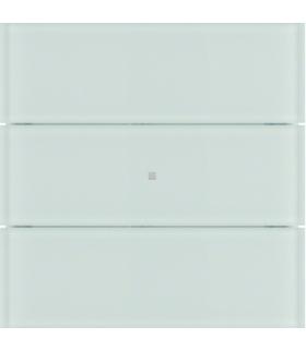 B.IQ Przycisk 3-krotny standard,  szkło białe