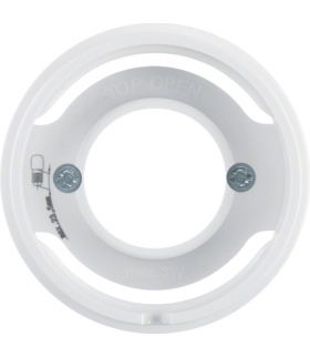 R.1/R.3 Płytka czołowa do sygnalizatora świetlnego E14, biały, połysk Berker 11982089
