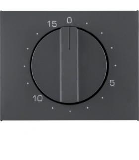 K.1 Płytka czołowa z pokrętłem do mechanicznego łącznika czasowego 0-15 min, antracyt mat, lakierowany Berker 16347106