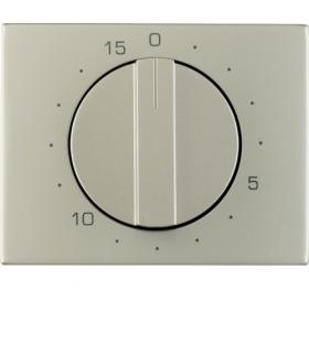 K.5 Płytka czołowa z pokrętłem do mechanicznego łącznika czasowego 0-15 min, stal szlachetna nierdzewna Berker 16347104