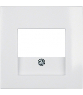 B.Kwadrat Płytka czołowa do gniazda głośnikowego i gniazda ładowania USB, biały, połysk Berker 5310338989