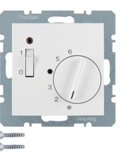 B.3/B.7 Reg. temp. pom. 24 V st. zw., el. centr., łącznikiem i diodą, biały