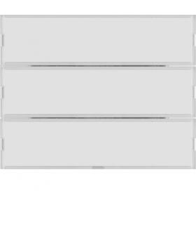 KNX e/s K.x Przycisk 3-kr z polem opis., diod. LED RGB i czuj. temp., biały