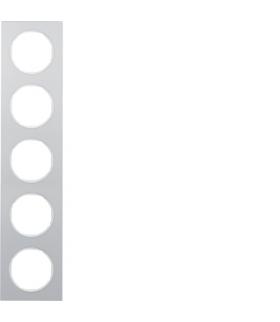 R.3 Ramka 5-krotna, alu/biały Berker 10152274