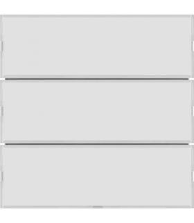 KNX e/s B.x Przycisk 3-kr z p. opis., diod. LED RGB i czuj. temp., biały i krem