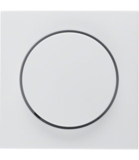 S.1/B.3/B.7 Płytka czołowa z pokrętłem regulacyjnym do ściemniacza obrotowego, biały, połysk Berker 11378989