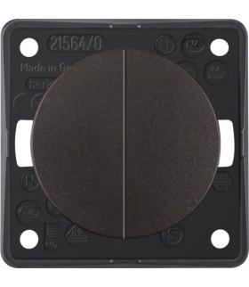 Integro Flow Łącznik wieloklawiszowy przyciskowy, brązowy, mat Berker 936752501