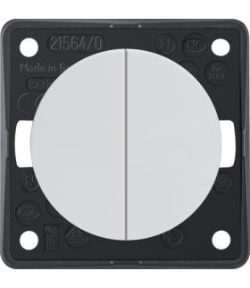 Integro Flow Łącznik wieloklawiszowy przyciskowy, biały, połysk Berker 936752509