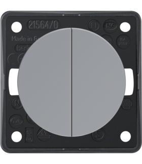 Integro Flow Łącznik wieloklawiszowy przyciskowy, szary, połysk Berker 936752507