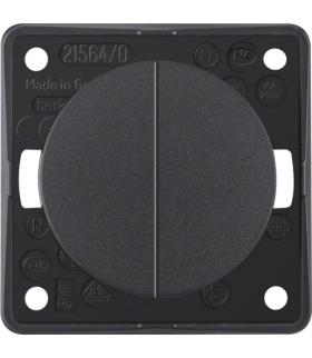 Integro Flow Łącznik wieloklawiszowy przyciskowy, antracyt, mat Berker 936752505