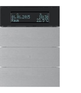B.IQ Przycisk 3-kr z reg. temp. i wyśw. aluminium