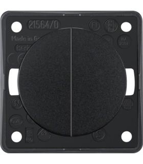 Integro Flow Łącznik wieloklawiszowy przyciskowy, czarny, połysk Berker 936752510