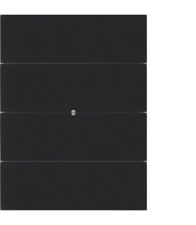 B.IQ Przycisk 4-krotny standard,  szkło czarne