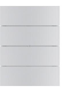 B.IQ Przycisk 4-krotny standard,  aluminium