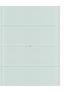 B.IQ Przycisk 4-krotny standard,  szkło białe