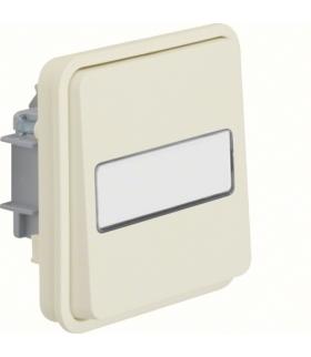 W.1 Moduł łącznika 1-klawiszowy 1-biegunowy przyciskowy z podświetlanym polem opisowym, IP55, biały Berker 50413512