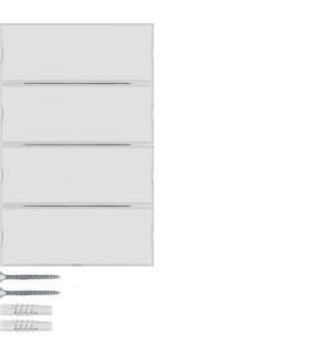 KNX e/s K.x Przycisk 4-kr z polem opis., diod. LED RGB i czuj. temp., biały