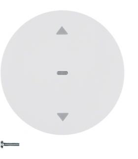 R.x/Serie 1930/Glas Przycisk żaluzjowy komfort do sterowników żaluzjowych Berker.Net, biały, połysk Berker 85241139