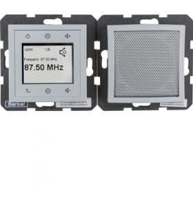 B.x/S.1 Radio Touch komplet, alu mat Berker 28801404