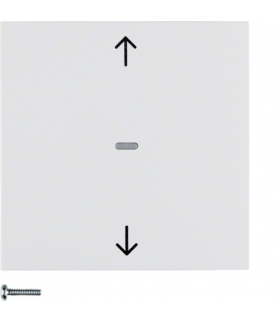 B.x/S.1 Przycisk żaluzjowy komfort do sterownika żaluzjowego Berker.Net, biały, połysk Berker 85241189