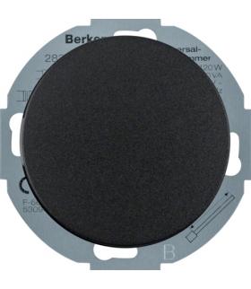 R.classic Ściemniacz uniwersalny z płynną regulacją i płytką czołową, czarny Berker 28342045
