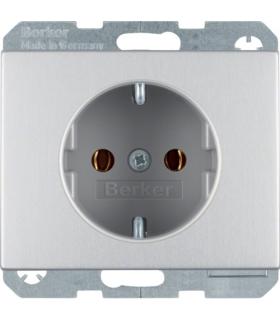 K.5 Gniazdo SCHUKO kompletne, samozaciski, aluminium Berker 47157003