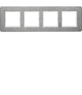 Q.7 Ramka 4-krotna pozioma, stal szlachetna Berker 10246083