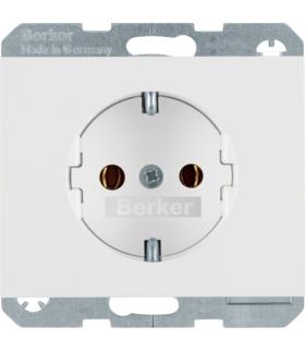K.1 Gniazdo SCHUKO kompletne, samozaciski, biały Berker 47157009