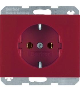 K.x Gniazdo SCHUKO kompletne, samozaciski, czerwony Berker 47157015