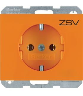 K.x Gniazdo SCHUKO kompletne, samozaciski, pomarańczowy Berker 47157014