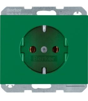 K.1/K.5 Gniazdo SCHUKO kompletne, samozaciski, zielony Berker 47157013