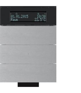 B.IQ Przycisk IR 3-kr z reg. temp. i wyśw. aluminium