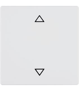 Q.x Przycisk żaluzjowy komfort do sterowników żaluzjowych Berker.Net, biały, aksamit Berker 85241129