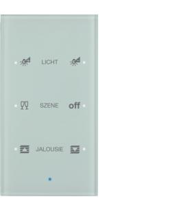 KNX TS Sensor dotykowy 3-krotny konfigurowalny, szkło, białe