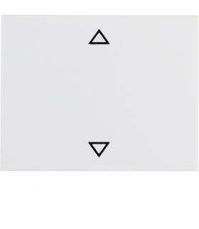 """K.1 Klawisz z nadrukiem symbolu """"strzałki"""" do łącznika 1-klawiszowego, biały Berker 14057109"""