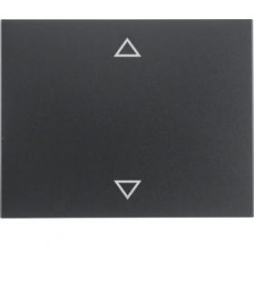 """K.1 Klawisz z nadrukiem symbolu """"strzałki"""" do łącznika 1-klawiszowego, antracyt mat, lakierowany Berker 14057106"""