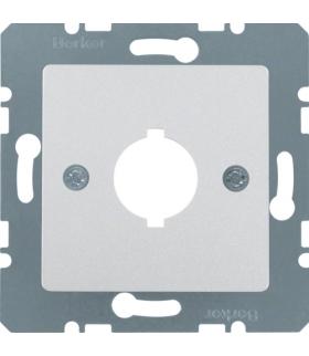 B.Kwadrat Płytka czołowa z otworem Ø 18,8 mm do gniazda wyrównania potencjału pojedycznego, alu, mat lakierowan Berker 14311404
