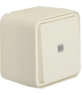 W.1 Łącznik uniwersalny przyciskowy z podświetleniem, kompletny, IP55, biały Berker 50763502