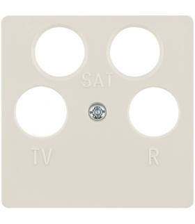 B.Kwadrat Płytka czołowa do gniazda antenowego 4-wyjściowego, kremowy Berker 148402