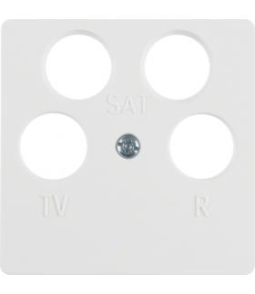 B.Kwadrat/K.1 Płytka czołowa do gniazda antenowego 4-wyjściowego, biały Berker 148409