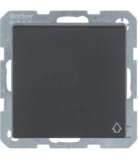 Q.x Gniazdo SCHUKO kompletne z pokrywą, samozaciski, antracyt aksamit, lakierowany Berker 47516086