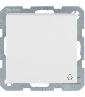 Q.x Gniazdo SCHUKO kompletne z pokrywą, samozaciski, biały, aksamit Berker 47516089
