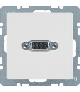 Q.x Gniazdo VGA, zaciski śrubowe, biały, aksamit Berker 3315416089