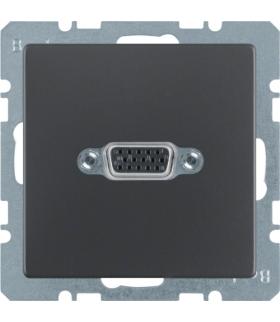 Q.x Gniazdo VGA, zaciski śrubowe, antracyt aksamit, lakierowany Berker 3315416086